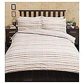 Multi Textured Stripe  Duvet Set, - Natural