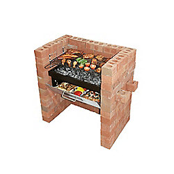 Bar-Be-Quick Built In Grill & Bake Charcoal Barbecue