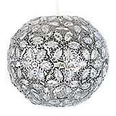 Moroccan Ball Ceiling Light Pendant Shade in Chrome