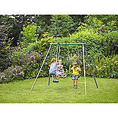 Plum Helios Metal Swing Set