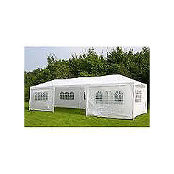 9x3m White Garden Party Tent Marquee Gazebo