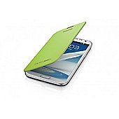 Samsung Galaxy Note 2 Clip-on Replacement Battery Cover with Leather Feel Flip Lime Green