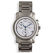"""Cross Milan Men's Chronograph White, all Stainless Steel watch"""