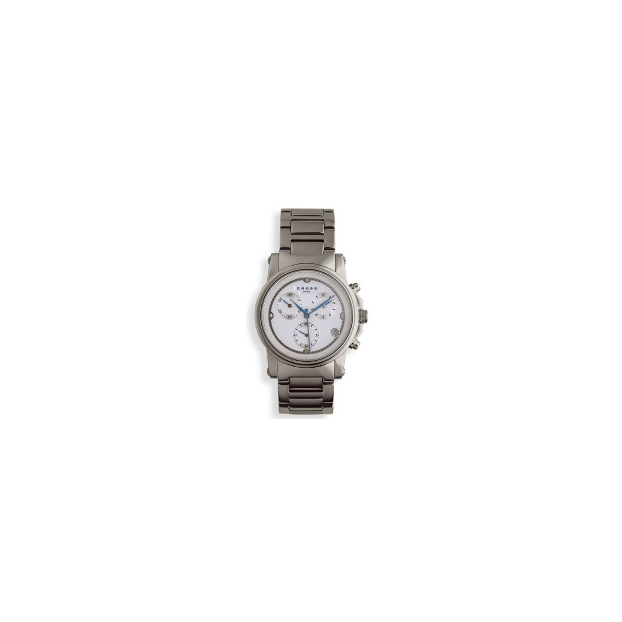 ''Cross Milan Men's Chronograph White, all Stainless Steel watch'' at Tescos Direct