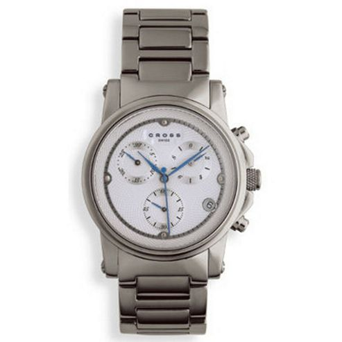 Cross Milan Men's Chronograph White, all Stainless Steel watch