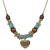 Spirit Multi Bead Heart Necklace