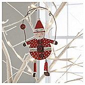 Wood Scandi Santa Hanging Dec