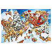 100XXL pc jigsaw Crazy Christmas