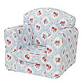 Children's Single Sofa Chair - Floral Sky