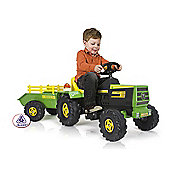 Injusa Tractor & Trailer Battery Operated Ride-On with Lights & Sounds