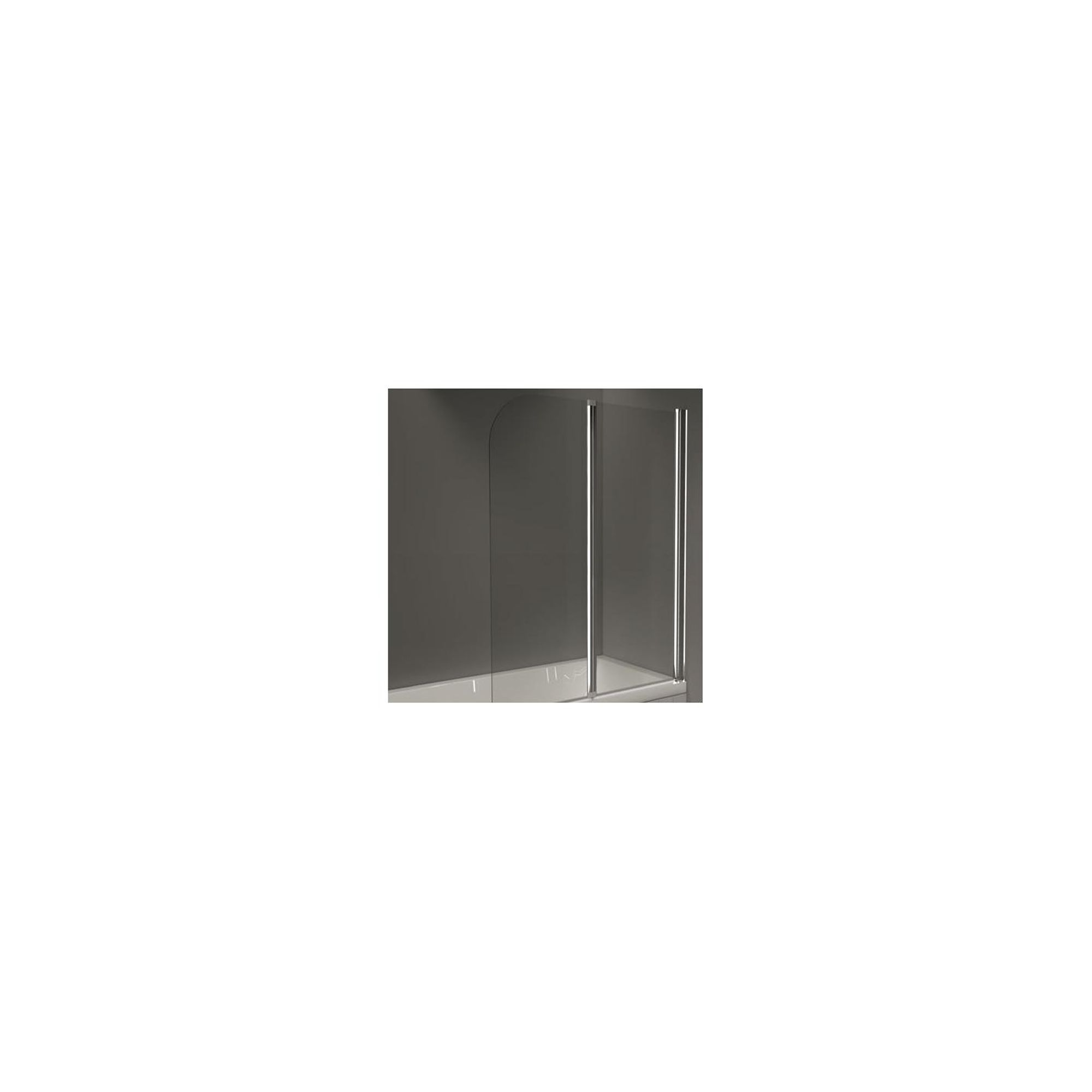 Merlyn OBS Double Folding Round Top Bath Screen, 1500mm High x 1200mm Wide, Right Handed, 6mm Glass at Tesco Direct