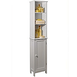 American Cottage - Tall Storage Cupboard With Shelves - White