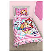 Paw Patrol Pink Single Duvet Set