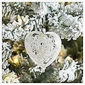 Weiste Glass Heart Christmas Tree Decoration