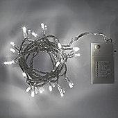 20 White LED Battery Fairy Lights