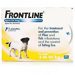Frontline Spot On (Small Dog 2-10kg) [3 pack]
