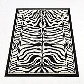 Rugs with Flair Wildlife Zebra Black / White Novelty Rug - 160cm x 220cm