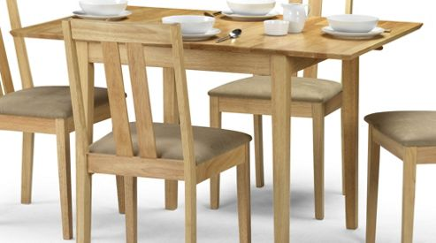 Julian Bowen Rufford Extending Dining Table in Natural - 80-120cm