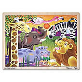 African Plains Wooden Puzzle 24 Pieces
