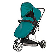 Obaby Chase 3 Wheeler Pramette Travel System - Black & Turquoise