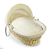 Clair de lune Starburst Natural Wicker Moses Basket - Cream