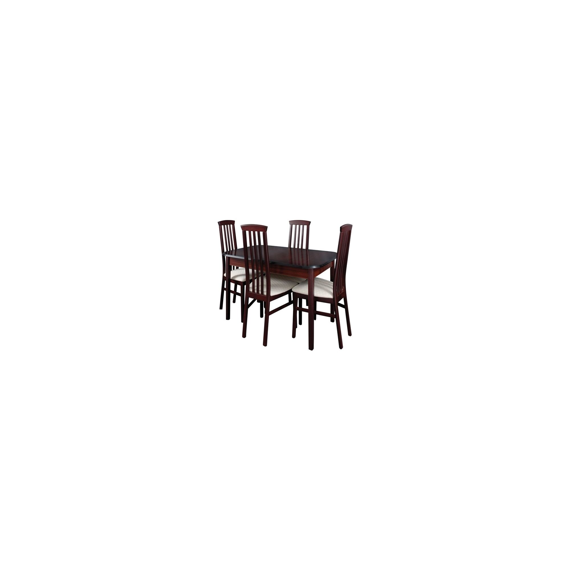 Caxton York Compact Rectangular 4 Chair Extending Dining Set in Mahogany at Tesco Direct
