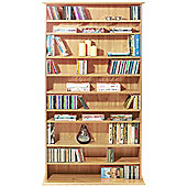 Harrogate - Cd / Dvd / Blu-ray Media Storage Shelves - Beech