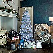 6ft Slender Scandinavian Fir White Christmas Tree