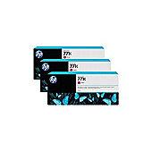 HP 771C (775ml) Magenta Ink Cartridges (3-Pack) for Designjet Z6200 1067mm/Z6200 1524mm Photo Printers