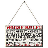 House Rules Signage 14 x 25cm