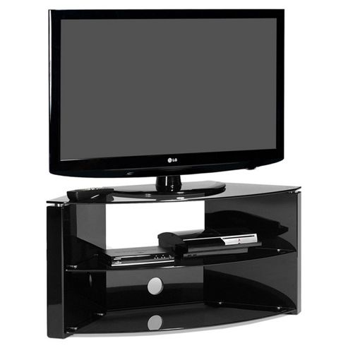 Bench Corner Piano Black 42 inch TV Stand