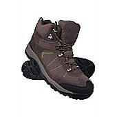 Traveller Mens Waterproof Walking Hiking Breathable Rubber Sole Shoes Boots - Green