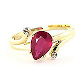 QP Jewellers Diamond & Ruby Flank Ring in 14K Gold