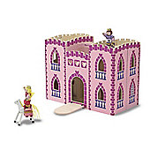 Melissa And Doug Wooden Princess Fold And Go Castle
