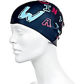 Speedo Slogan Junior Silicone Swimming Cap - Navy