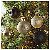 Tesco Baubles Gold, 20 Pack