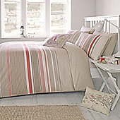 Dreams n Drapes Falmouth Terracotta Duvet Cover Set - Double - Red