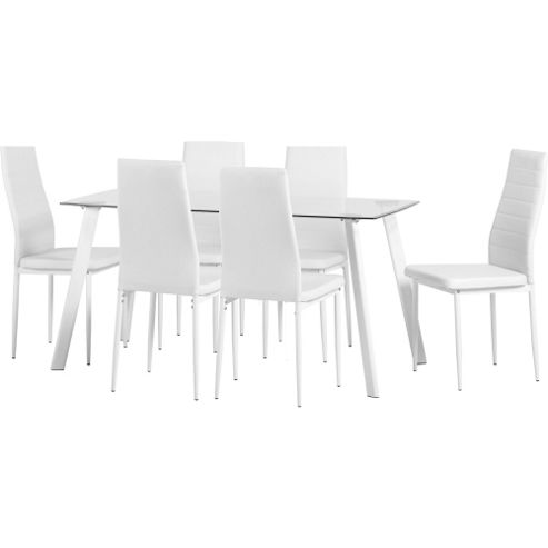 dining table and 6 chairs tesco image