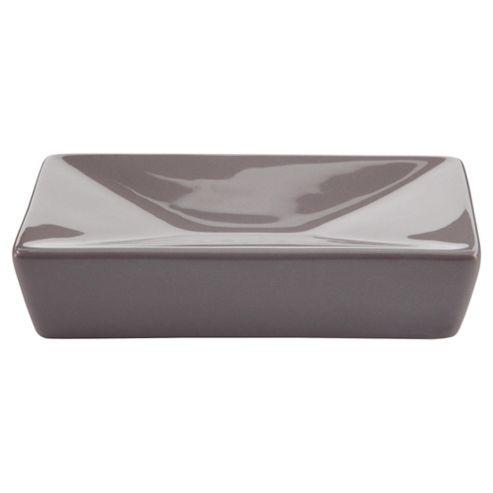 Tesco Grey Ceramic  Soap Dish