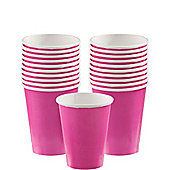 Hot Pink Paper Cups - 266ml Paper Party Cups, Pack of 20