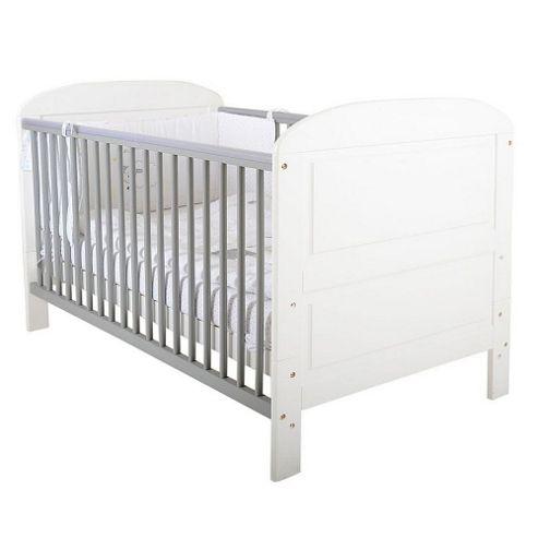 East Coast Angelina Cot Bed (White/Grey)