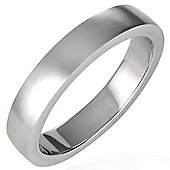 Urban Male Men's Brushed Finished 4mm Stainless Steel Ring