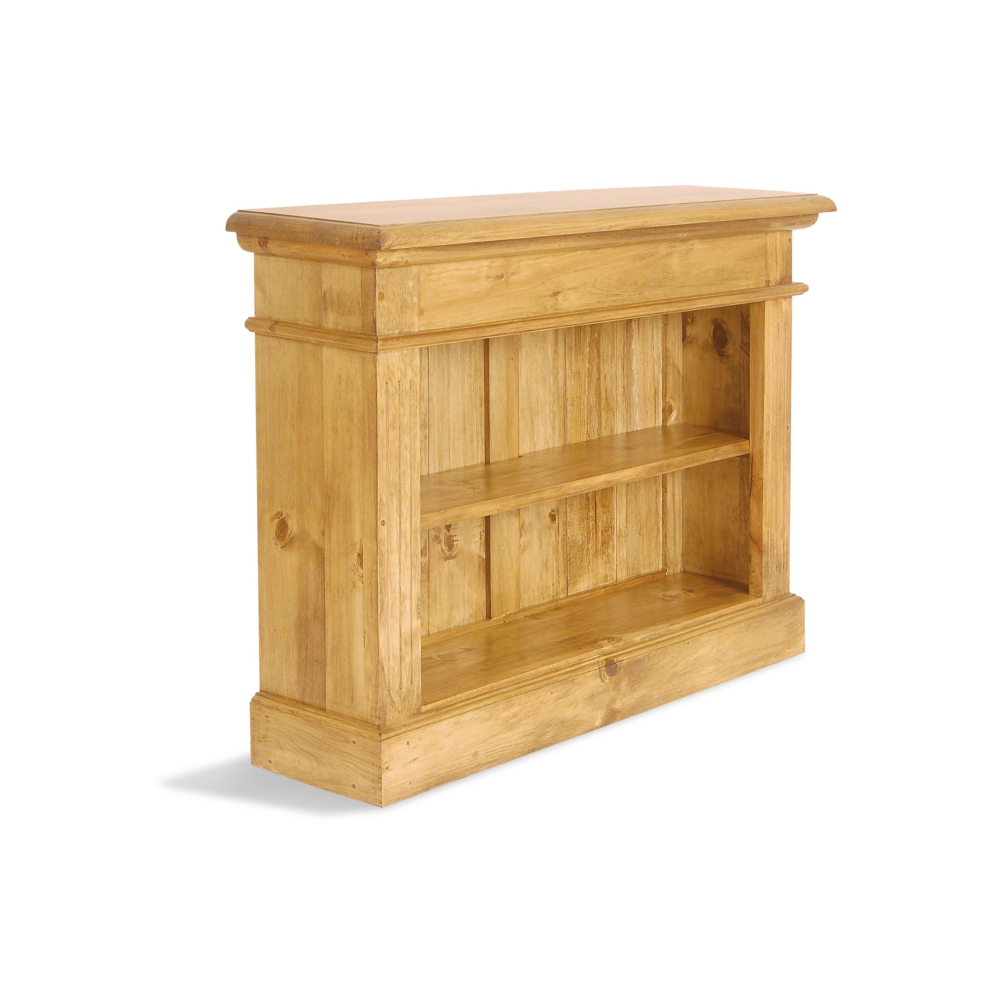 Oceans Apart Vintage Pine Extra Low and Wide Bookcase at Tescos Direct