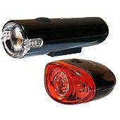 Black Widow Blaze 1W Front and Defender Rear Bike Light Set. (Front light is 1 Watt. Rear Light is 3 LED)
