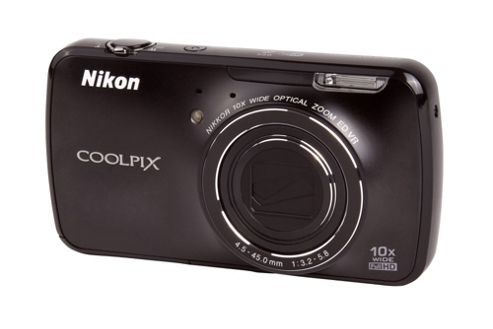 DS Nikon Coolpix S800c Camera Black 16MP 10xZoom 3.5LCD FHD 25mm Wide Lens WiFi
