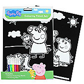 Stationery Peppa Pig Velvet Colouring Set (each)
