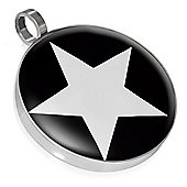 Urban Male Stainless Steel White Star Pendant For Men