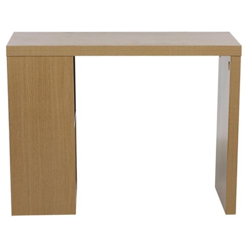 Buy campus desk with shelves oak effect from our office desks tables range tesco - Tesco office desk ...