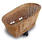 Basil Wicker Dog Basket Rear w/ Bracket Mounting to Rack w/ 6-20mm Ø Tubes (Medium 45cm)