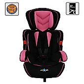 Cozy n Safe Car Seat, Group 1-2-3, Rose/Black
